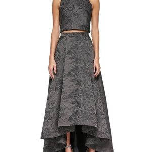 Alice and Olivia Two Piece Jacquard Gown